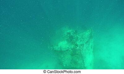 sous-marin, maldives, vieux, naufrage, très, île