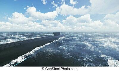 sous-marin, plongeon, mer, nord