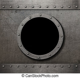 sous-marin, punk, vapeur, fond, hublot