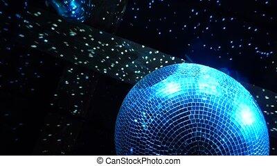 sous, plafond, danser balle, miroir
