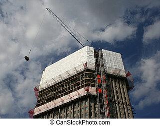 sous, rénovation, gratte-ciel