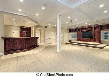 sous-sol, dans, maison luxe