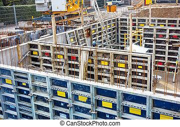 sous-sol, shuttering, construction