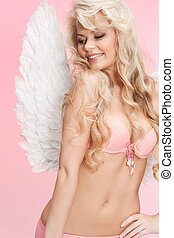 sous-vêtements, girl, ailes ange