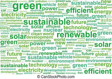 soutenable, énergie, propre, renouvelable