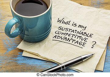 soutenable, compétitif, avantage