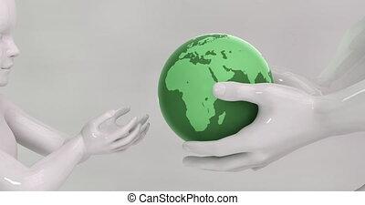 soutenable, enfants, inheriting, environnement, mondiale