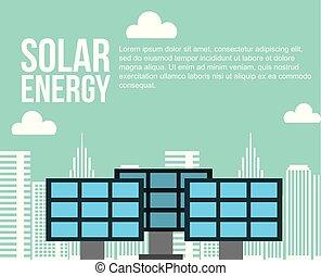 soutenable, ville, énergie, alternative, solaire