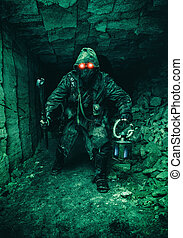 souterrain, bête, poste, apoc