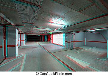 souterrain, exit/entrance, stationnement