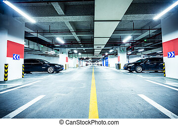 souterrain, garage, stationnement