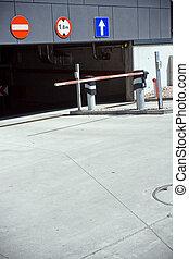 souterrain, garage, stationnement, portail