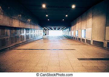 souterrain, sortie, métro
