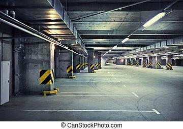 souterrain, stationnement