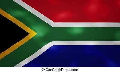 South Africa dense flag fabric wavers, perfect loop for background