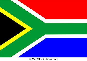 South Africa Flag - 2D illustration of the flag of South ...