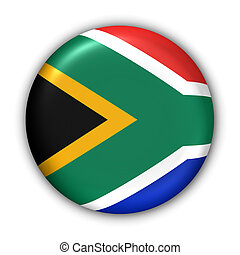 South Africa Flag - World Flag Button Series - Africa -...