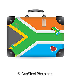 South Africa flag on bag