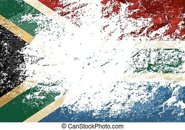 South Africa flag Grunge background