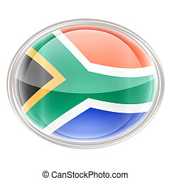 South Africa Flag icon, isolated on white background