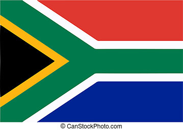 South Africa flag icon - isolated vector illustration