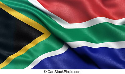 South Africa flag seamless loop