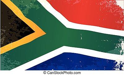 South Africa Grunge Flag