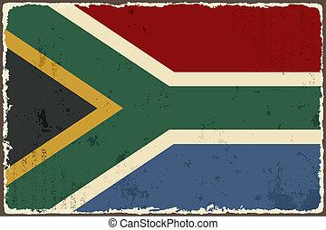 South Africa grunge flag. Vector illustration
