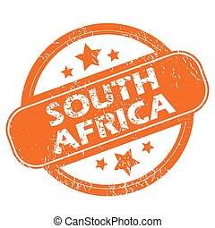 South Africa grunge icon