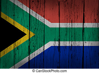 South Africa Grunge Wooden Background
