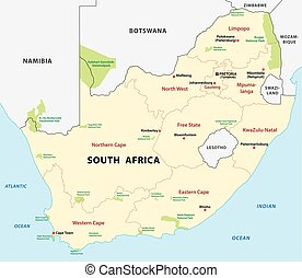 south africa national park map