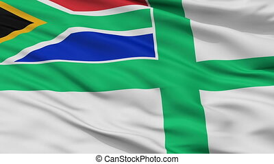 South Africa Naval Ensign Flag Closeup Seamless Loop