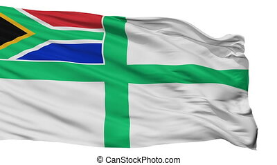 South Africa Naval Ensign Flag Isolated Seamless Loop