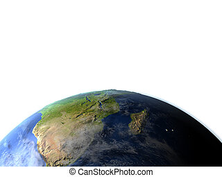 South Africa on planet Earth