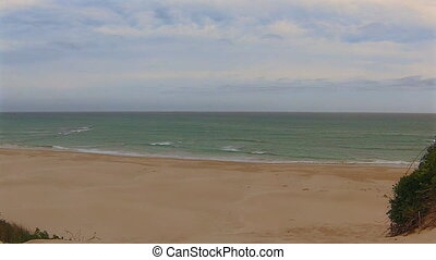 South Africa paradise beach - View from the dunes to the...