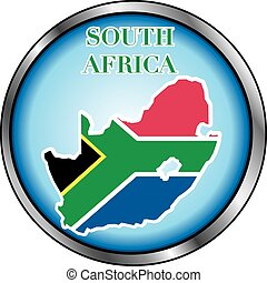 South Africa Round Button