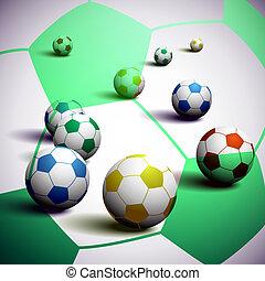South Africa Soccer Balls Background
