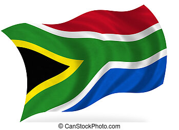 South-Africa   - South African flag, isolated