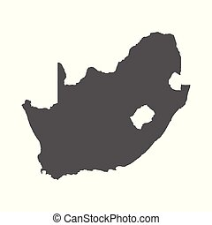 South Africa vector map. Black icon on white background.