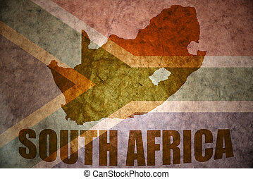 south africa vintage map - south africa map on a vintage...