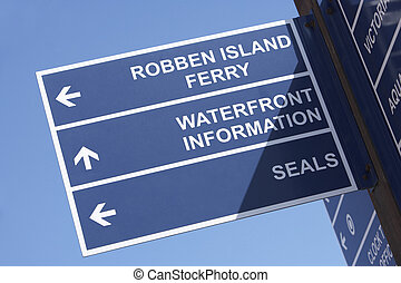 South Africa,Cape Town,Victoria And Albert Waterfront Sign