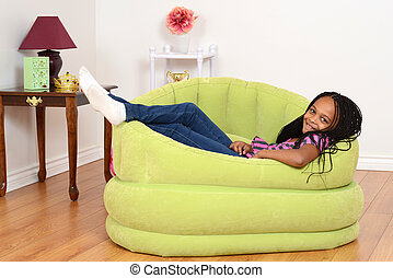 South African child relaxing