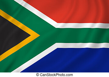 South African national flag background texture.