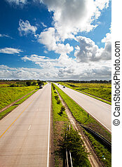 South African national highway N2, Durban north coast...