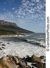 Beautiful South African coast line near Cape Town