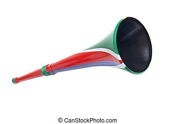 South African Vuvuzela isolated on white background