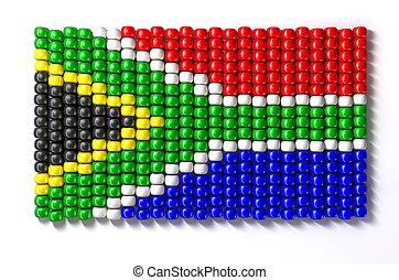 South African Zulu Bead Flag - A traditional zulu beaded...