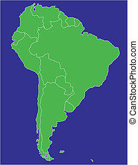 south america 02 - a basic map of south america with the ...