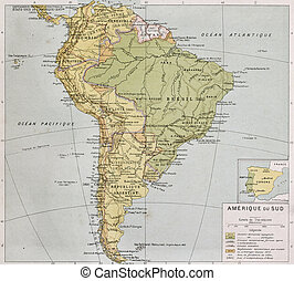 South America at the end of 19th century. By Paul Vidal de...