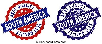 South America Best Quality Stamp with Distress Effect